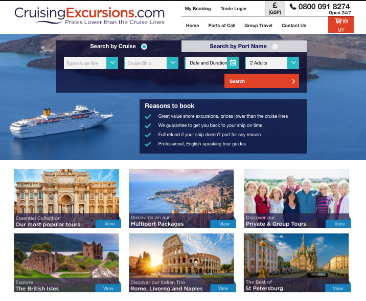 Crusing Excursions homepage