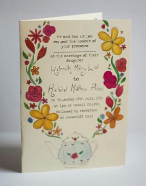Front of wedding invite