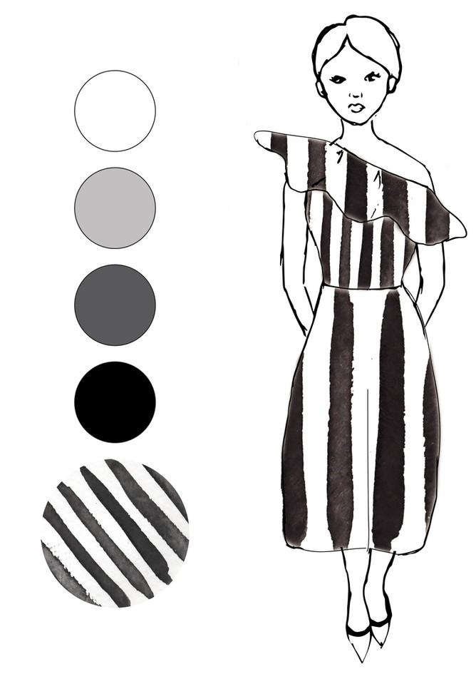 Monochrome look