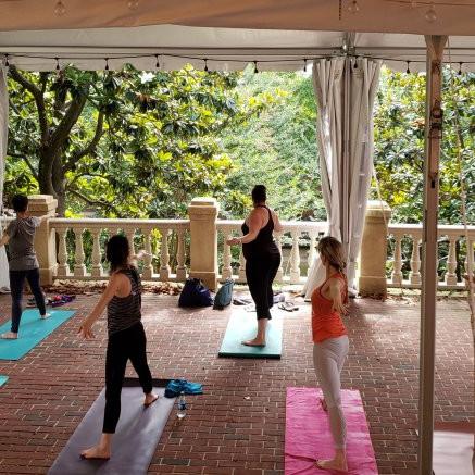 Yoga on the Magnolia Terrace