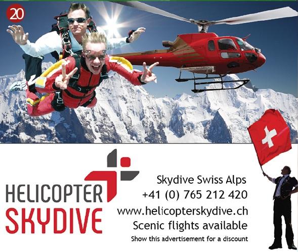 Helicopter Skydive Interlaken