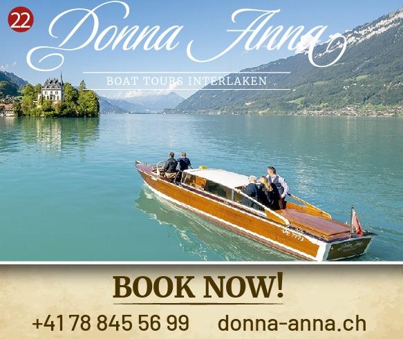 Donna Anna Boat Tours Interlaken