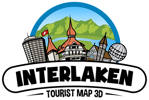 Map Interlaken Map of Interlaken Map of Interlaken Tourist Map of Interlaken Map