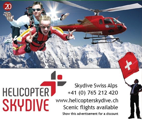 Helicopter Skydive Interlaken