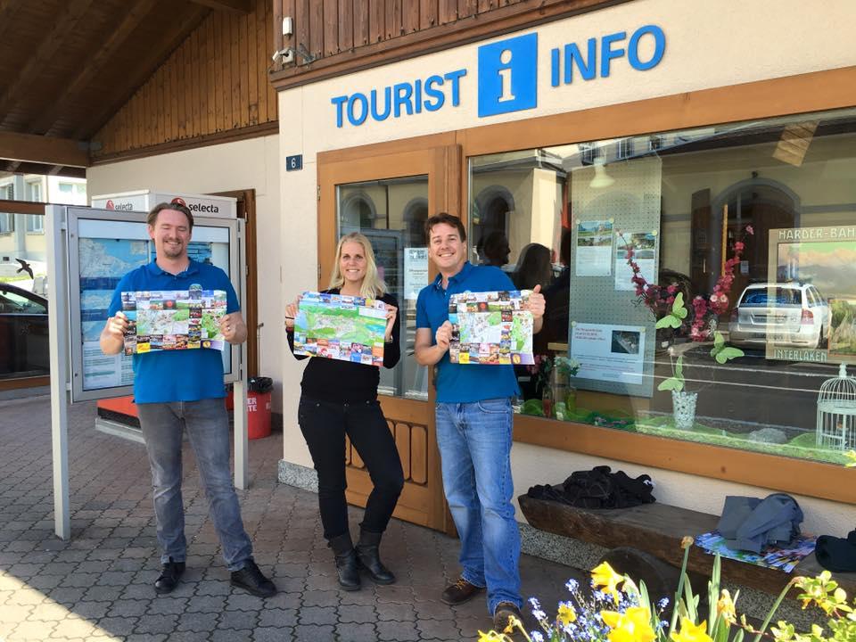 Bönigen Tourist Info- Interlaken Map