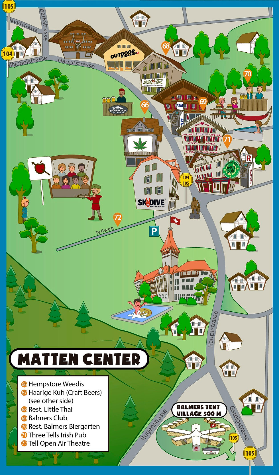 Interlaken Tourist Map 3D - Matten bei I