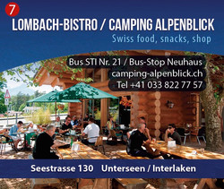 Lombach Bistro Camping Alpenblick