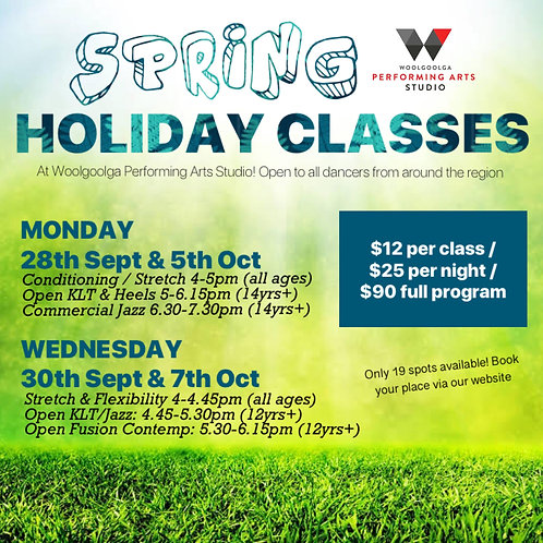 SPRING HOLIDAY CLASSES - FULL PROGRAM PASS