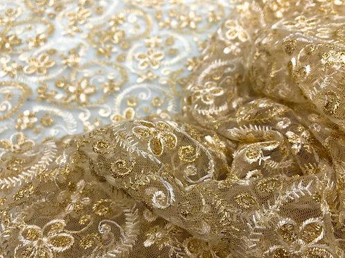 Cream & Gold Garden Lace