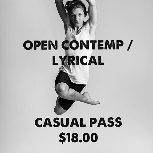 OPEN CONTEMP / LYRICAL CASUAL PASS