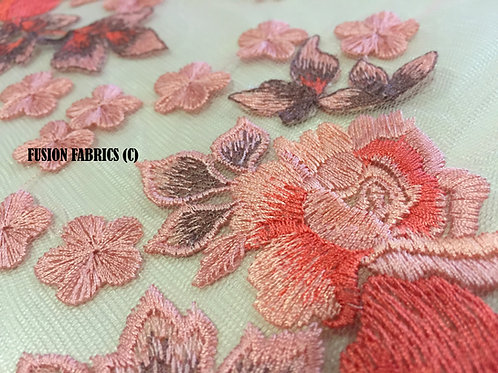 Apricot Tri Tone Turkish Lace