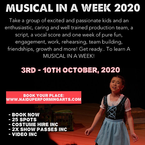 MUSICAL IN A WEEK (ENROLLED STUDENT)