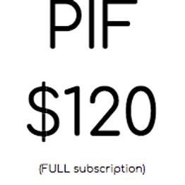 PIF $120.00