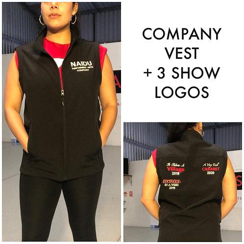 Company Vest + 3 Show Logos