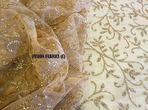 Auric Garden Glitter Fabric