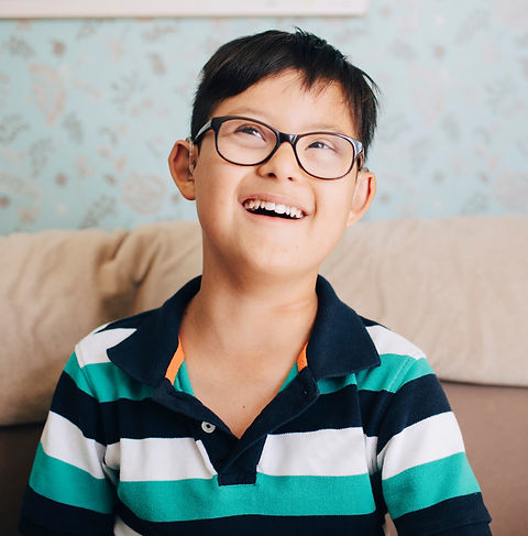 boy with glasses in edmonton