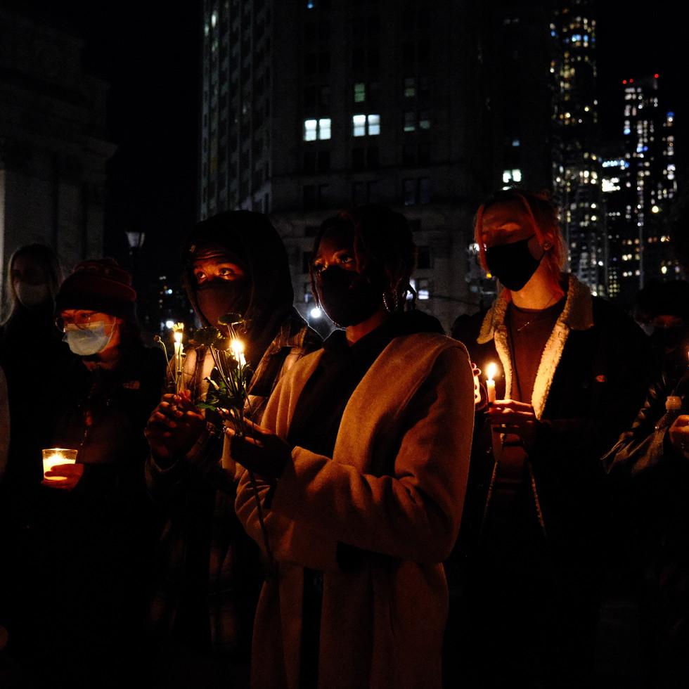 Candlelit vigil for Quawan Charles New York, NY 11.13.2020