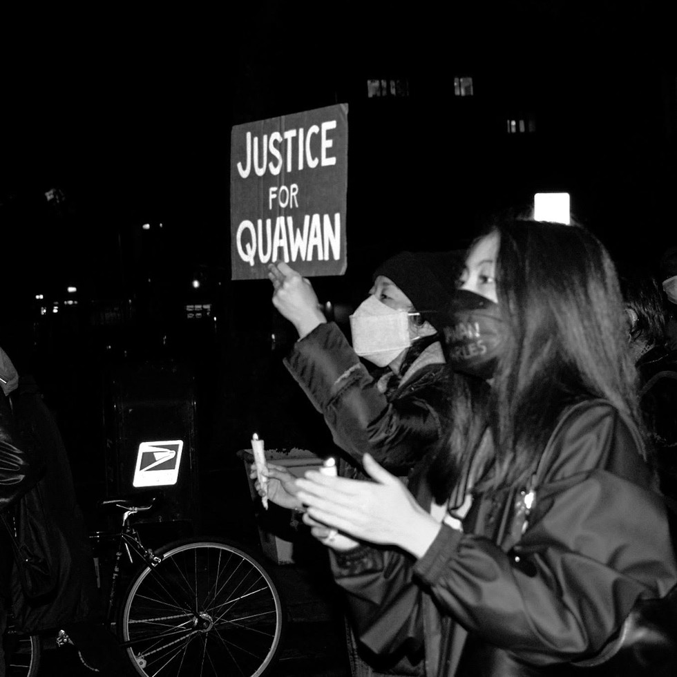 March and candlelit vigil for Quawan Charles New York, NY 11.13.2020