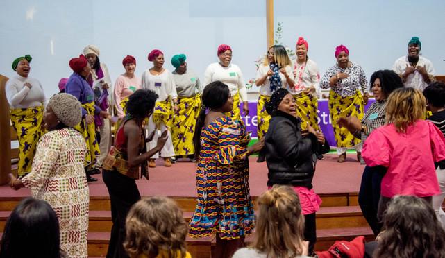 Refugee Women's Voice performing.jpg