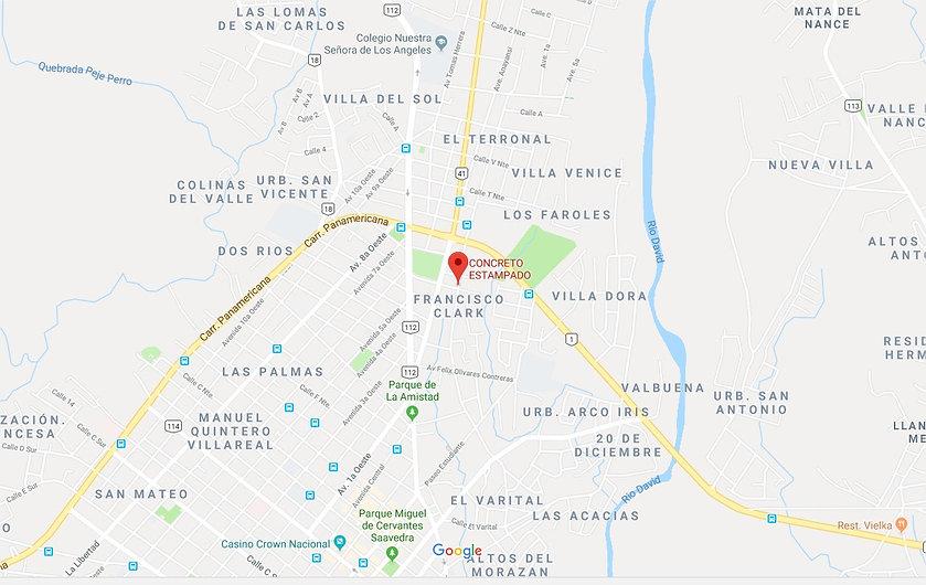 Ubicacion decopiscinas chiriqui,ubicacion y mapa de concreto estampao chiriqui