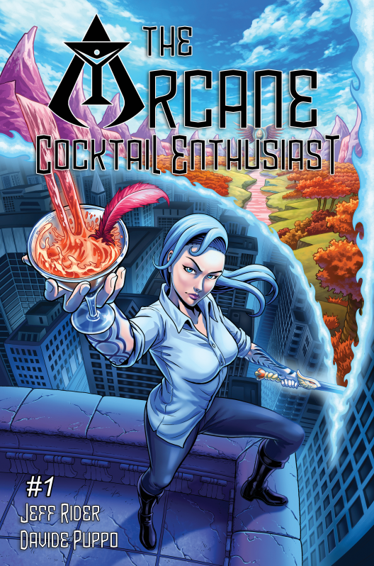 The Arcane Cocktail Enthusiast, issue #1, cover, Cloudwrangler Comics, Rider/Puppo