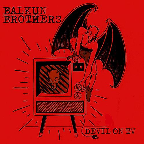 Devil On TV Sticker
