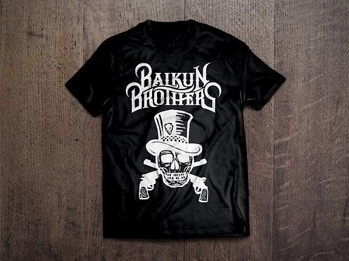 Skull & Pistols T Shirt Black & White