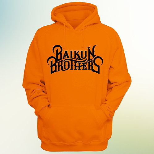 Orange Balkun Brothers Logo Hoodie