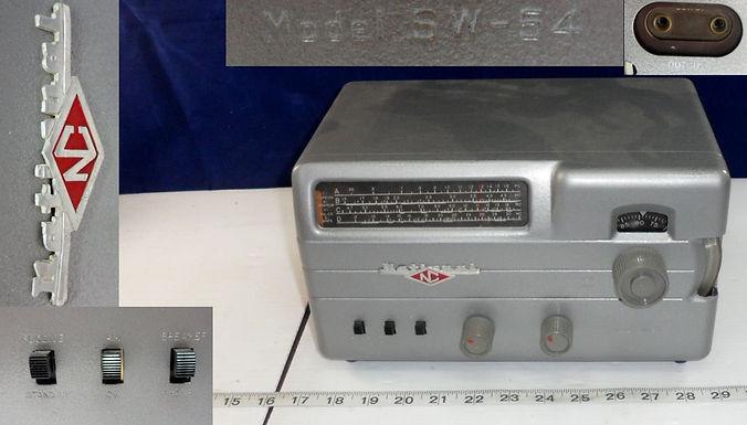 "1950s ""National"" NC Tube Radio Receiver Model SW-54"