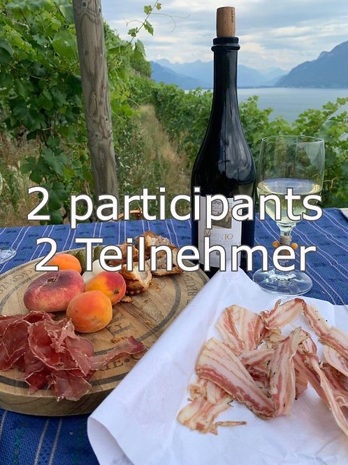Balade avec dégustation, 2 participants, CHF 125.- / pers..