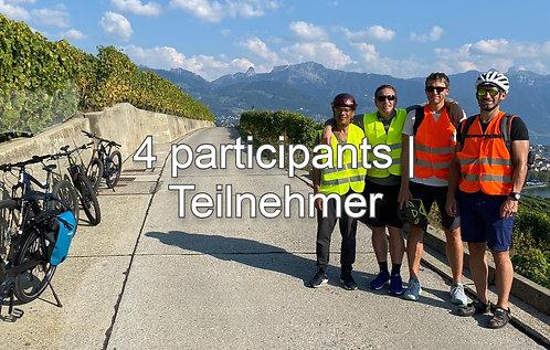 E-Bike in Lavaux, 4 Teilnehmer, CHF 140.- / Teilnehmer