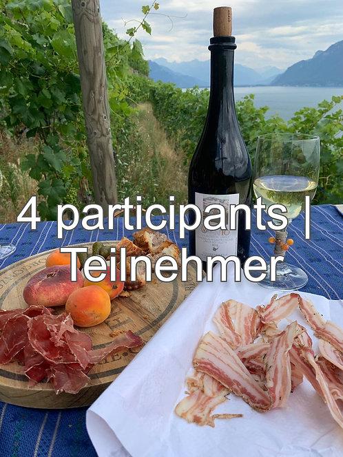 Spaziergang mit Weinprobe, 4 Teilnehmer,  CHF 100.- / Pers.
