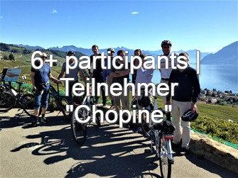 "E-Bike-Tour ab 6 Teilnehmer ""Chopine von Lavaux"", CHF 150.- / Teilnehmer"