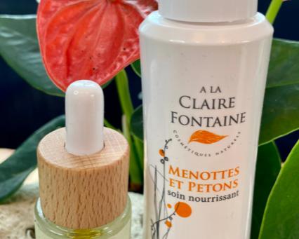 Retour d'expérience avec le soin Menottes et Petons A La Claire Fontaine et le sérum Biotanie