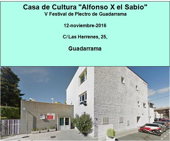 Casa de Cultura Alfonso X el Sabio, Guadarrama