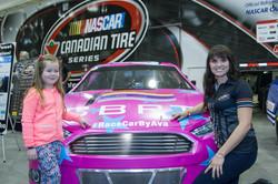 Erica and her NASCAR designer Ava