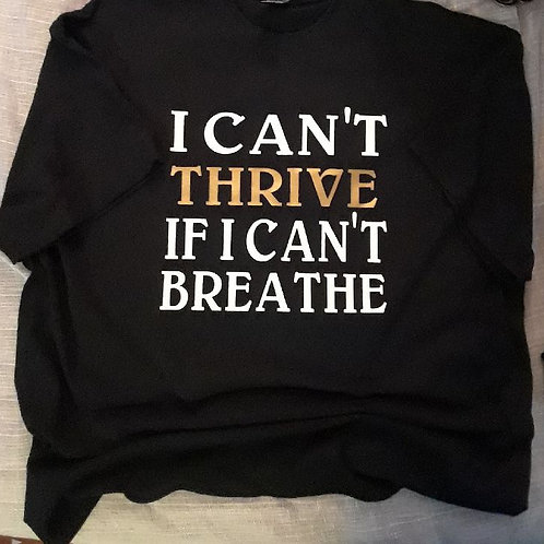 Can't Breathe: Black w/ Gold