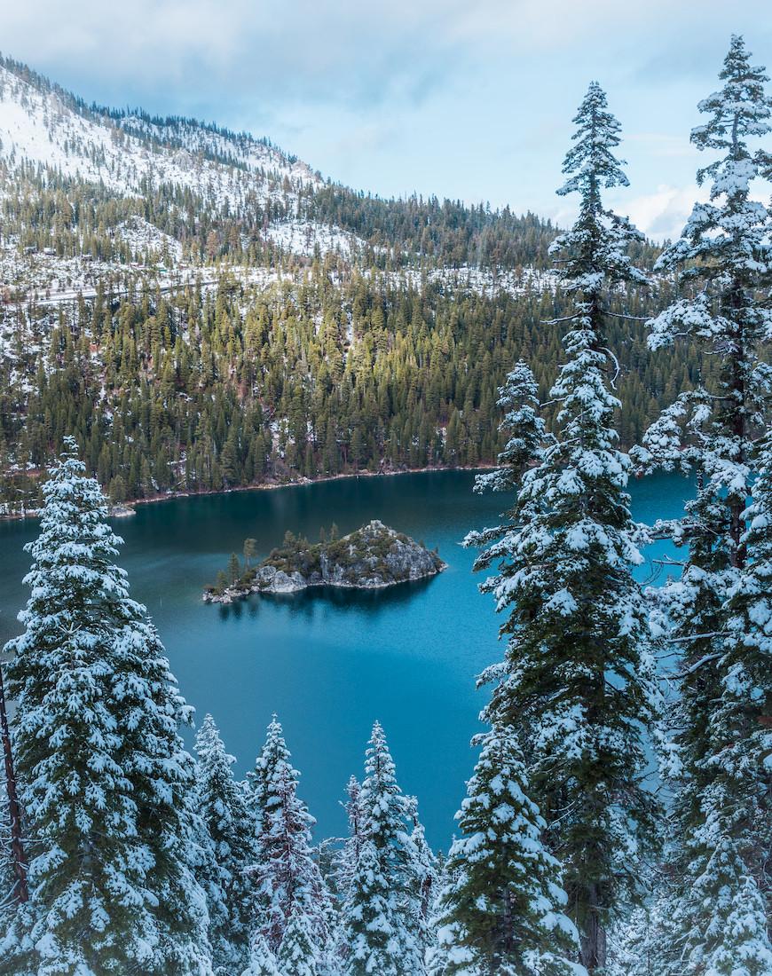 Emerald Bay Lake Tahoe in the winter