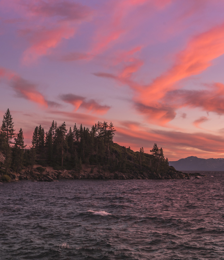 Sunset on Lake Tahoe's east shore