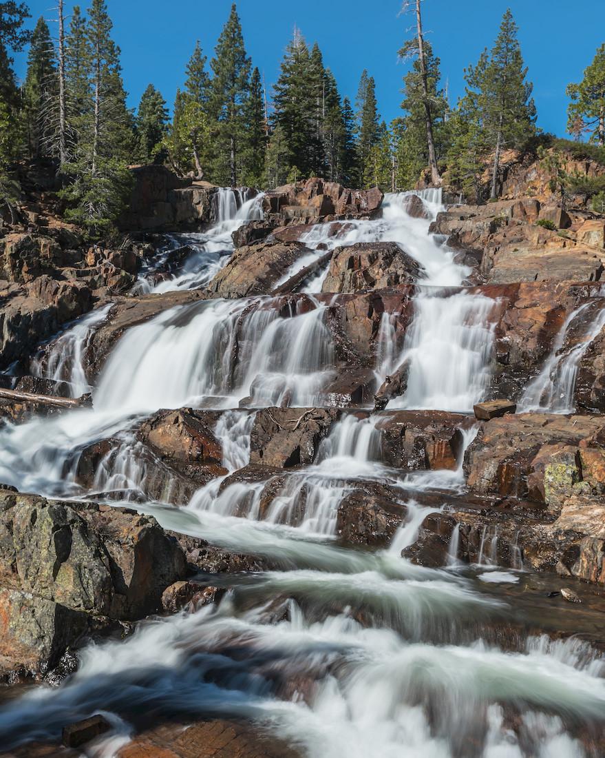 Glen Alpine Falls in Lake Tahoe California
