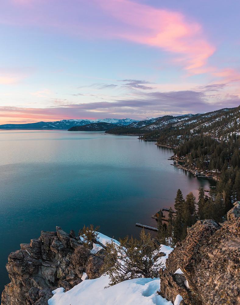 Cave Rock hike in South Lake Tahoe nevada