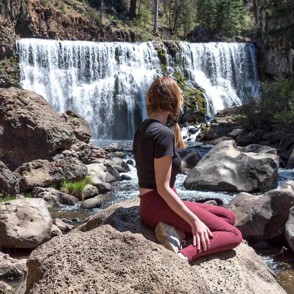 Middle McCloud Falls in Northern California