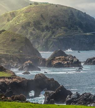 Sea caves in Big Sur