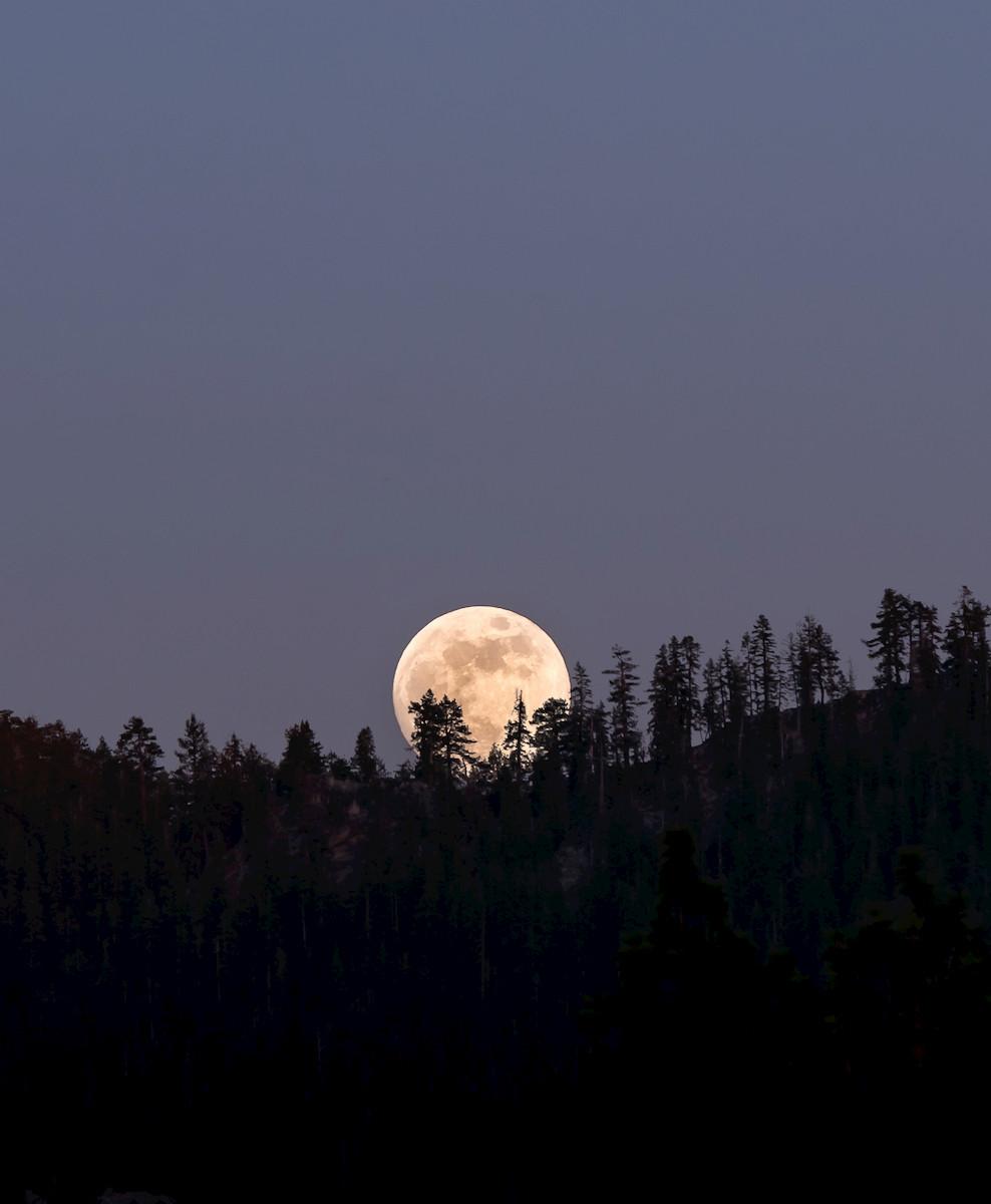 Full Moon in Lake Tahoe California