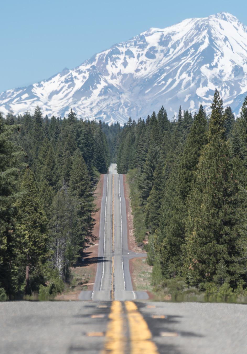 Mt Shasta along Hwy 89 in Northern California