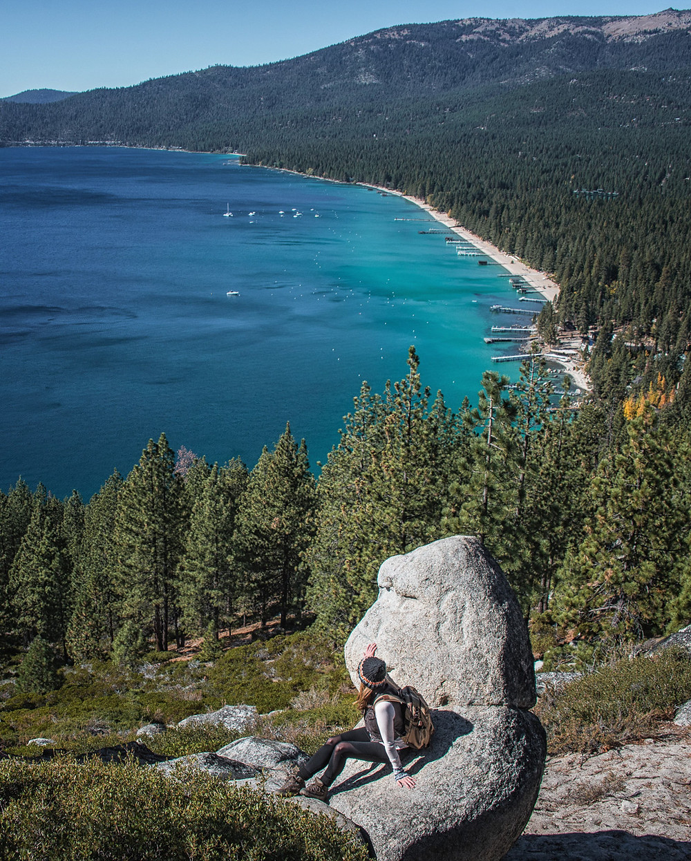 Views at Monkey Rock in Lake Tahoe