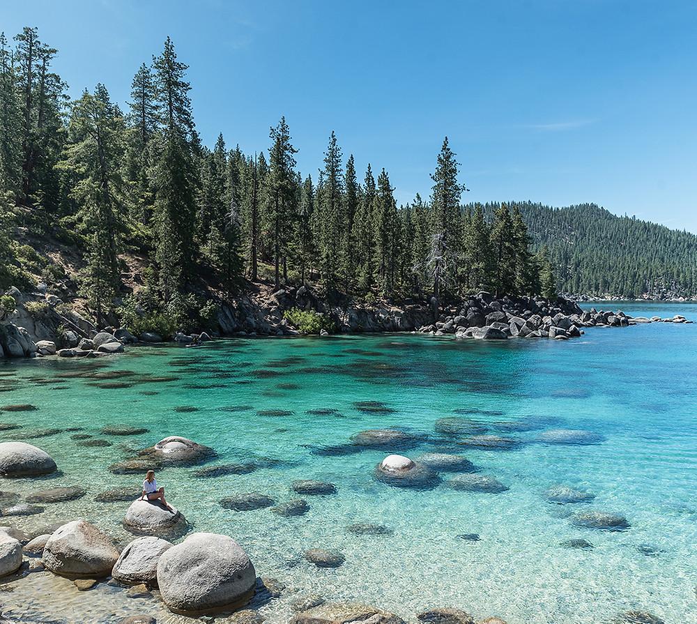 Secret cove beach in Lake Tahoe Nevada