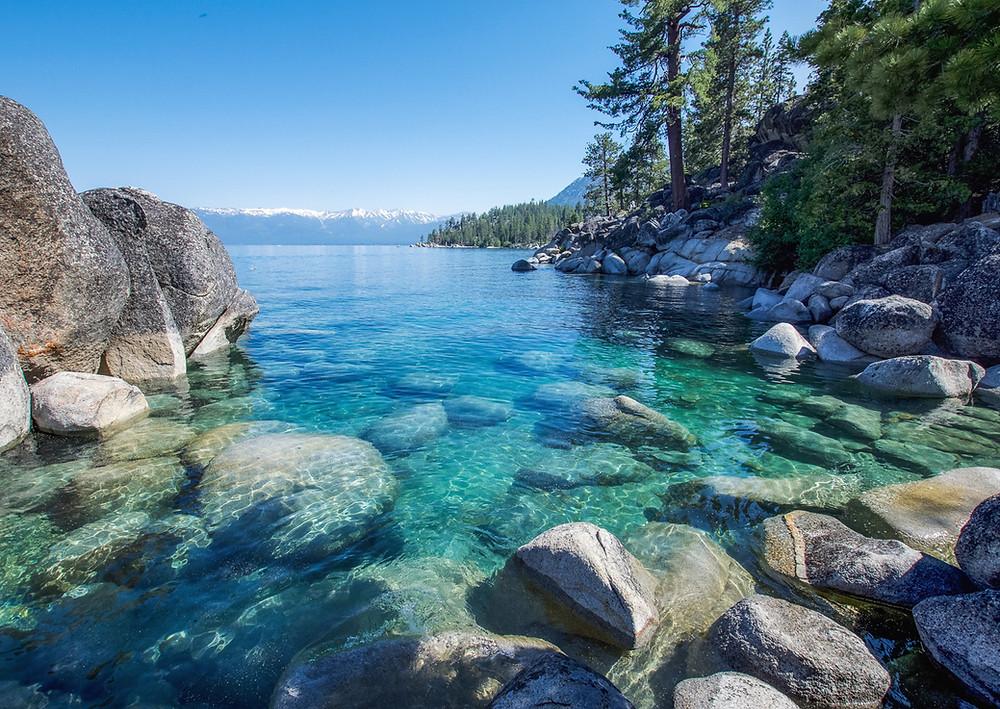 remote coves along Lake Tahoes east shore