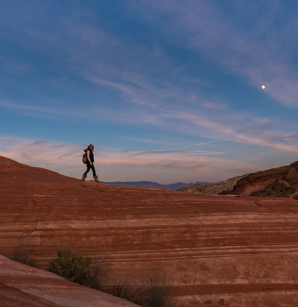 Dust at Fire Wave in Valley of Fire State Park Nevada