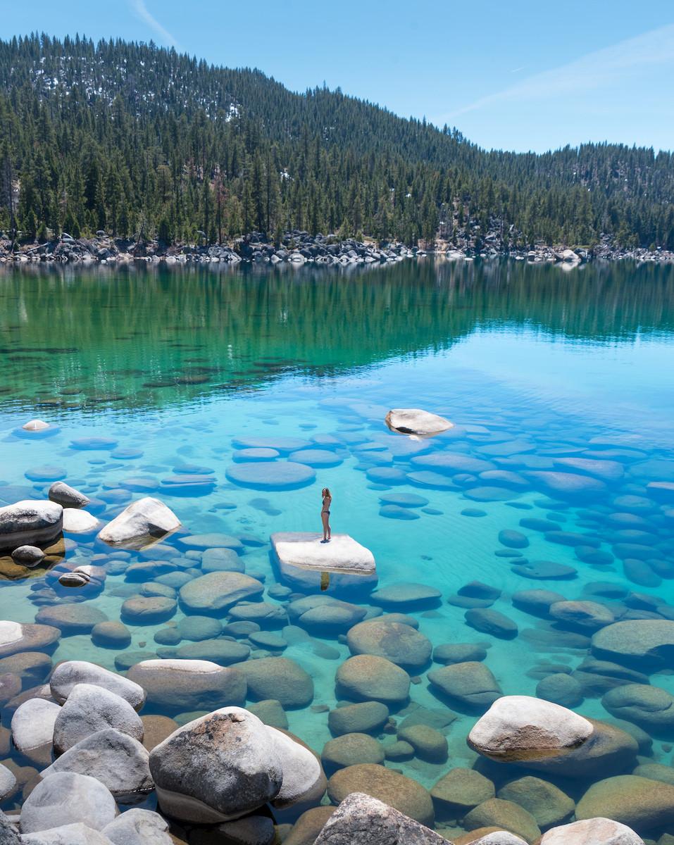 Lake Tahoe crystal clear beach on Lake Tahoe's East Shore